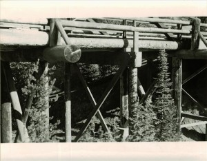 Old Annie Creek Bridge in Crater Lake NP, mid-1940s