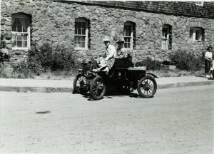 Old Car Club in front of the Lodge in Crater Lake NP, circa 1951