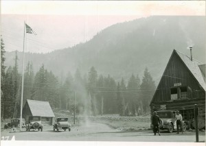 Old Headquarter Building, Headquarter Area in Crater Lake NP pre-1934