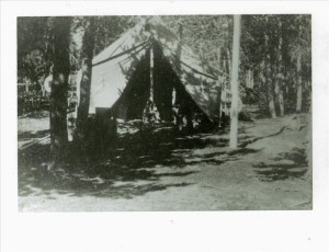 Our first camp Near Rim Road G. V. Robinson 1918 G. V. Robinson Collection