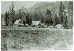 Park Headquarters in Crater Lake NP, circa 1930