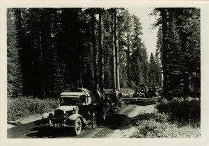 Park Service paving the South entrance road in Crater Lake NP, Late 1930s