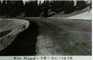 Paved gutters on segment 7-B in Crater Lake NP, 1938 Francis Lange