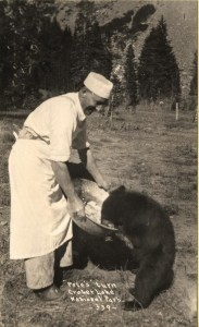 Pete's turn, Feeding a Bear in Crater Lake NP (date unknown)