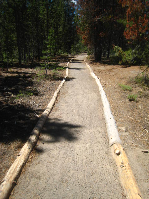 Pinnacles Trail Edging When New, Jennifer Gifford Trails Supervisor 2015