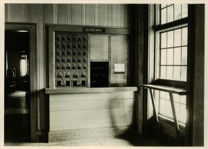 Post Office in the Ad Bldg. in Crater Lake NP, 1950s