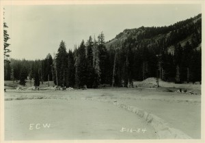 Preparing ground for new Administration Building in Crater Lake NP (date unknown) Munson Valley