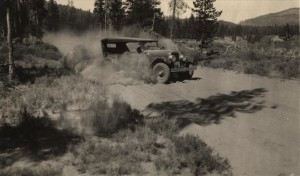 Pumice Dust on East Entrance Road in Crater Lake NP (date unknown) 2