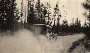 Pumice Dust on East Entrance Road in Crater Lake NP (date unknown) 3