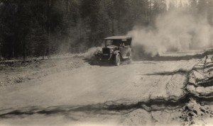 Pumice Dust on East Entrance Road (old Flint Auto) (333) Crater Lake.