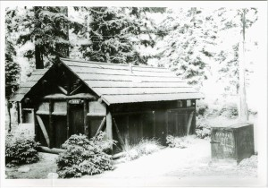 Restroom in Rim Campground in Crater Lake NP, circa 1940