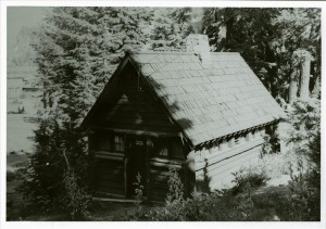 Restroom in Rim Campground in Crater Lake NP, circa 1940. Demolished in 1990