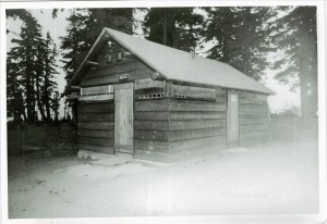 Restroom in Rim Campground in Crater Lake NP, circa 1980