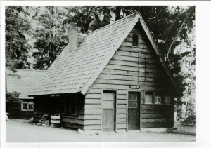 Restroom in Sleepy Hollow in Crater Lake NP, circa 1940