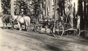 Rim Drive Construction in Crater Lake NP (date unknown)