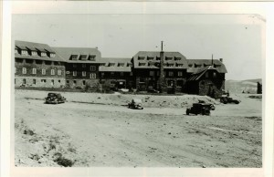 Rim Village Document construction of second parking loop near Crater Lake Lodge 1935 Photo taken by Francis G. Lange; FGL Collection