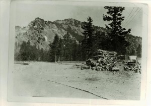Shows trail east of Crater Lake Lodge toward Garfield Peak in Crater Lake NP, 1934