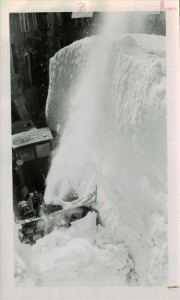 Sno-Go clearing out the Lodge in Crater Lake NP, Spring 1947