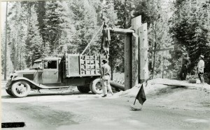 South Entrance Motif Construction CCC Project in Crater Lake NP, 1936