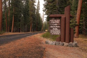 South Entrance Sign in Crater Lake NP, 2009 Dave Harrison
