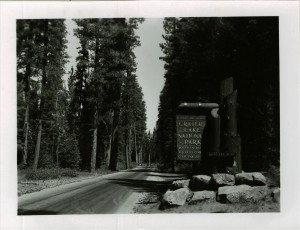 South Entrance Sign in Crater Lake NP (date unknown) 2
