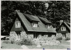 Stone Cottages in Crater Lake NP, 1941