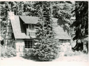 Stone Houses in Crater Lake NP, 1941 Grant photo