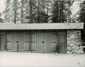 Stone garage, #33 in Crater Lake NP, 1941 Grant