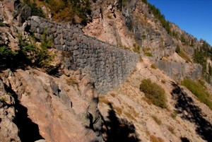 Stone wall, Kerr Notch in Crater Lake NP, 2009