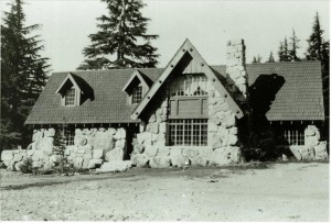 Superintendent's residence in the process of landscaping in Crater Lake NP, circa 1933