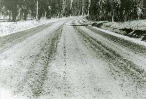 Surfacing a section of park road in Crater Lake NP, circa 1935
