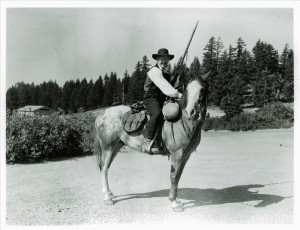 Tom McDonough portraying J.W. Hillman for Living History at Rim Village in Crater Lake NP, 1974 James Holcomb