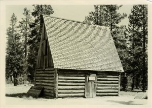 Tool shed at Lost Creek in Crater Lake NP, 1941 Grant, shed obliterated 1950's