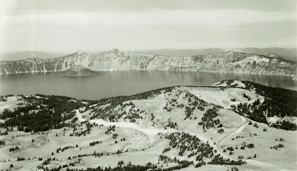 View from Mt. Scott in Crater Lake NP (date unknown)