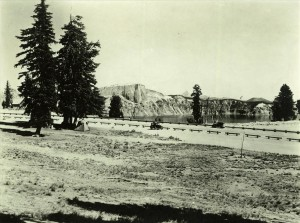 View of part of the Rim Area from the campground in Crater Lake NP, 1933 Grant