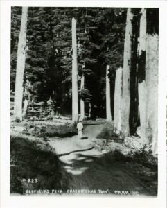 Visitors going up Garfield Peak Trail in Crater Lake NP, circa 1920 Guy Hartell collection