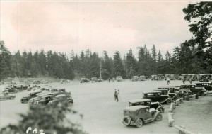 Visitors parked in the Rim Village area in Crater Lake NP (date unknown)