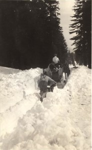Wagon traveling through snow in Crater Lake NP (date unknown) 2
