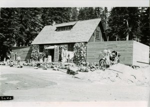 Warehouse Construction in Crater Lake NP (date unknown) extending both ends