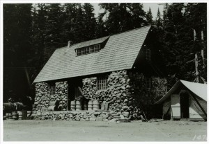 Warehouse before additions in Crater Lake NP, circa 1930