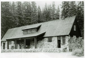 Warehouse with additions in Crater Lake NP, circa 1941