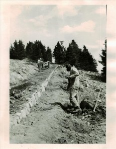 Watchman Trail Construction in Crater Lake NP, 1932