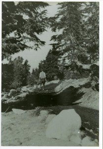 Watchman Trail oiling in Crater Lake NP, 1932