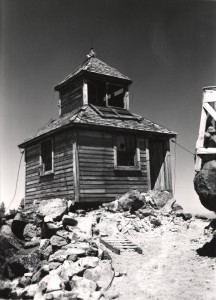 Watchman lookout in Crater Lake NP, 1920s
