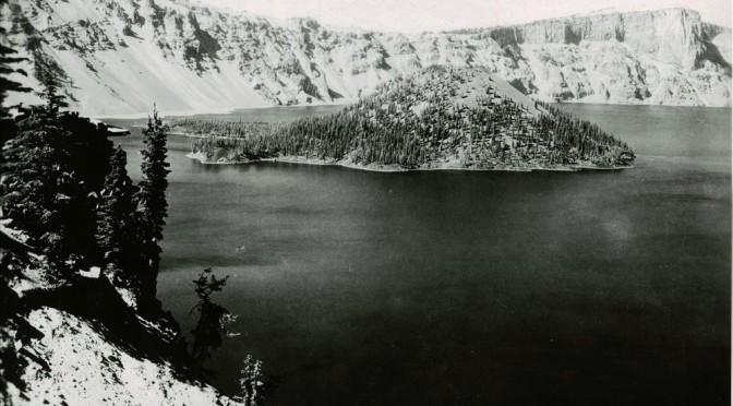 Wizard Island in Crater Lake, 1933