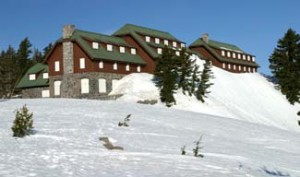 Crater Lake Lodge in spring NPS Focus