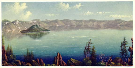 Crater Lake Institute Archives Watercolor on European paper 29 3/4 x 13 1/2 in. (25 cm x 45 cm) Fred Kiser corp. This document first came to light in the 1980's when it was discovered in an old Jacksonville Barn from a collection of previous paintings not known. The other owners did not realize the importance of such a rare artifact it languished in obscurity for many years before being rediscovered. Of all previous documents this one has been called the master one for various reasons, but, most of all, for the reason that it was first found and rediscovered by the former owner and it was not then known until it was then discovered again for the first time. Also, the primary factor in it's recovery had more to do with the time period of art emerging as a foremost past time of art and a passionate discovery by all it's inhabitants. In the previous nine years, this document had not been discovered for the simple reason that what had been know was not privy to the rediscovery by the first and last know owners who had the previous knowledge by the factors and the barn where it was discovered. This beautiful work of art can be placed in the first part of the nineteenth century by the last quarter of all those before it.