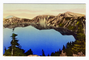 Back Caption: Crater Lake National Park, Oregon Publisher: Crater Lake National Park Co., Crater Lake, Oregon
