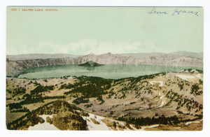 Title (front): Crater Lake, Oregon Stamp: Removed? Card Number(s): 496 (front) Publisher: Edward H. Mitchell, San Francisco