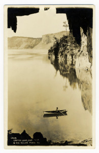 Title: Crater Lake, Ore Card Number(s): #232 Photographer: Miller Photo Co Publisher: Miller Photo Co; Underwood's Pharmacy, Kodak Department, Klamath Falls-Oregon